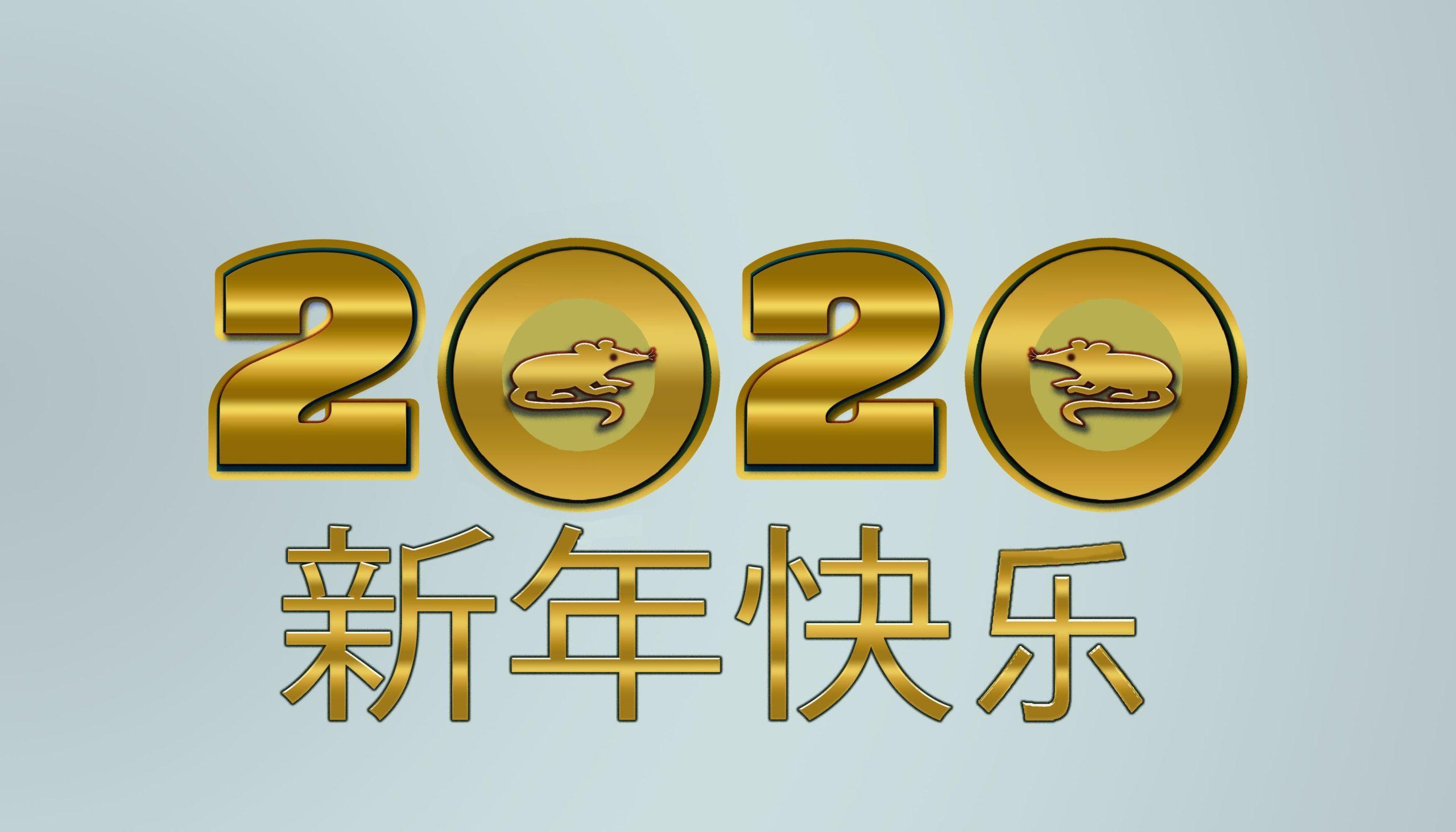 Neujahr 2020 –                                 Jahr Der Metall-Ratte